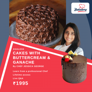 Online Course on Cakes with Buttercream & Ganache