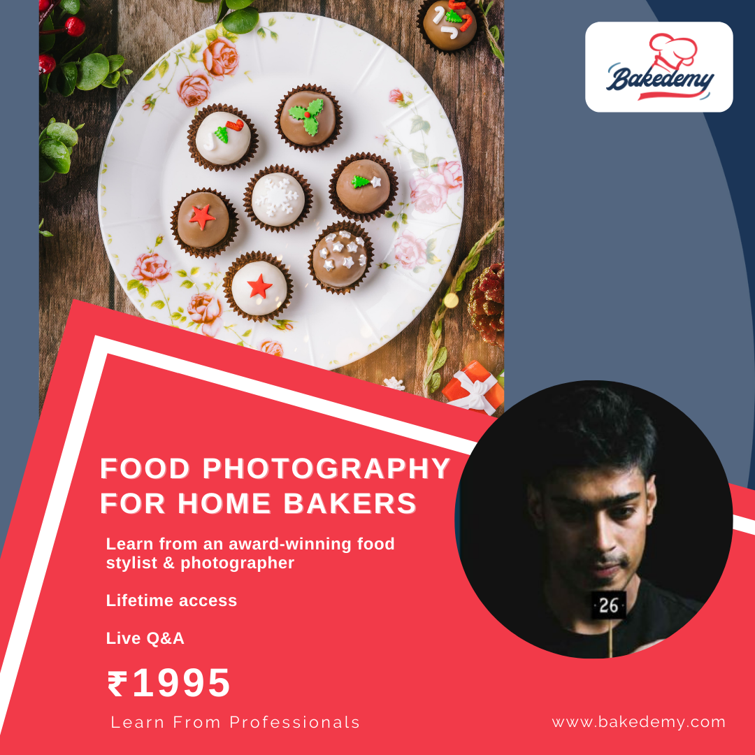 Online Course on Food Photography for Home Bakers