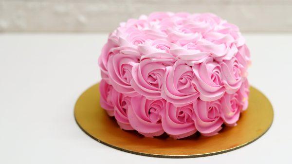 Ruffles on a Cream Cake
