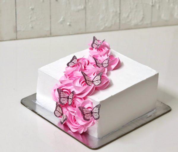 Square Cake Sharp Edges